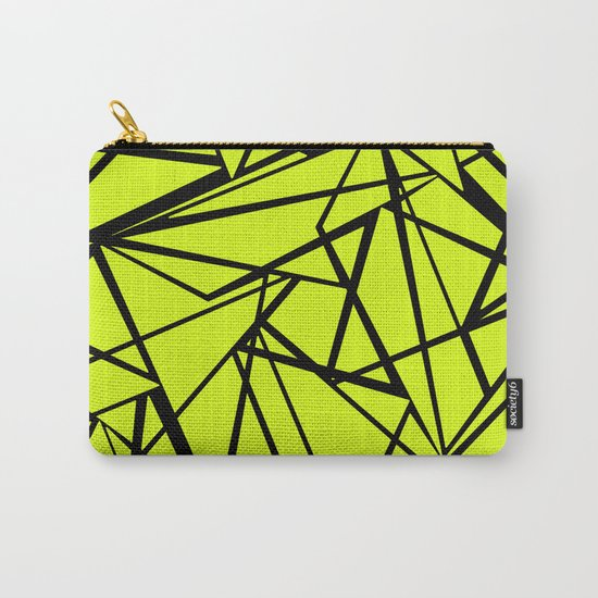 An abstract geometric pattern . Yellow green pattern . Carry-All Pouch