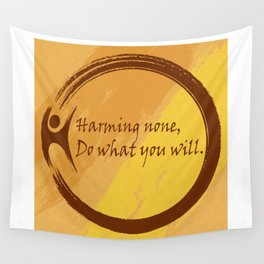 Harming None Do What You Will Color Background Wall Tapestry