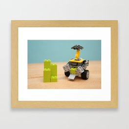 Wall - E at Work Framed Art Print