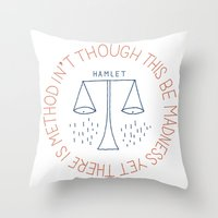 shakespeare Throw Pillows featuring Shakespeare by Tugrul Peker