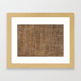 Burlap Grid Framed Art Print