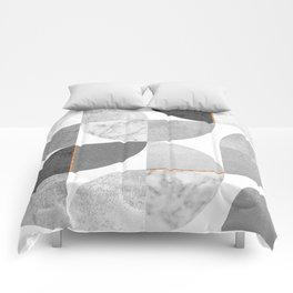 Marble Gray Copper Black and white circles Comforters