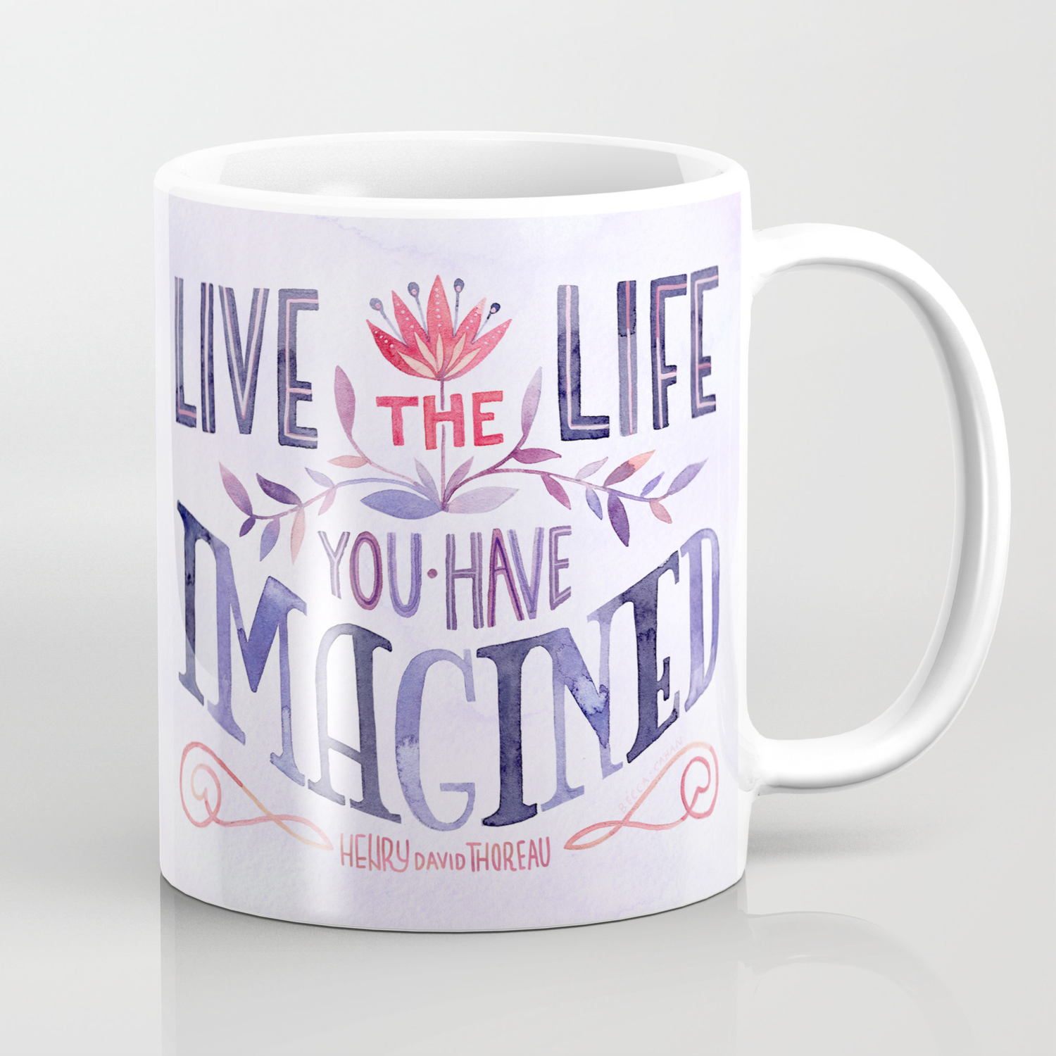 Go Confidently In The Direction Of Your Dreams Coffee Mug By Beccacahan Society6