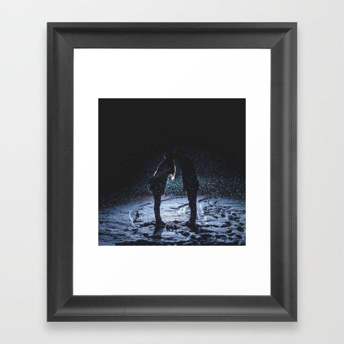 Valentine's Day Love Kiss ( Couple Valentine Gift / Girlfriend Gifts ) Framed Art Print