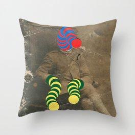 Mr Slinky Throw Pillow