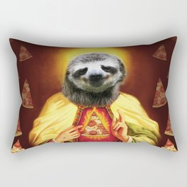 Holy Pizza Sloth Lord Jesus All over big print Animal Savior Rectangular Pillow