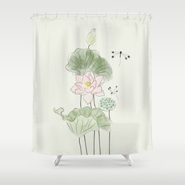Pond of tranquility Shower Curtain