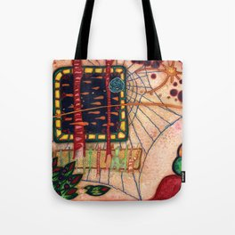 Spin Spidal and The Fish Television Tote Bag