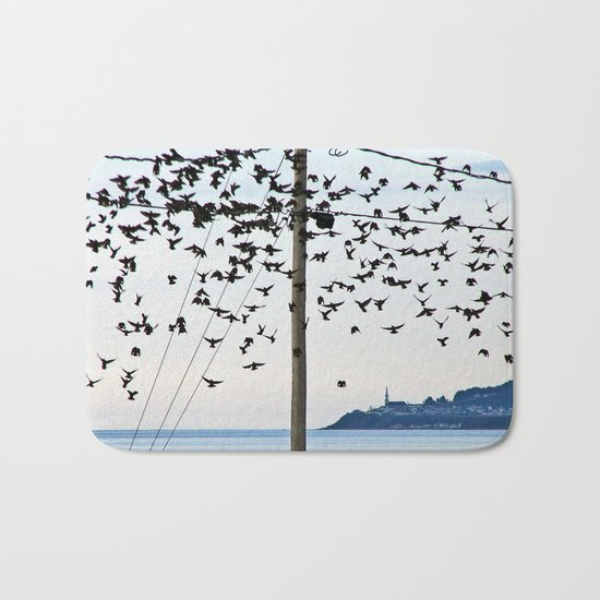 Birds in Flight Bath Mat