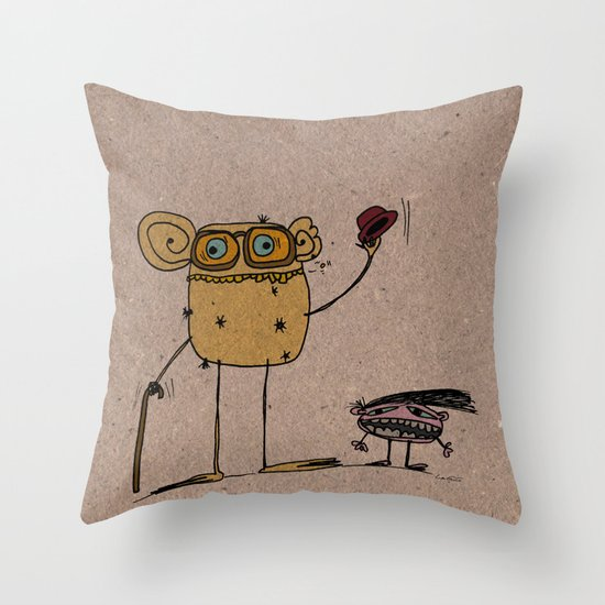- thinking about family - Throw Pillow