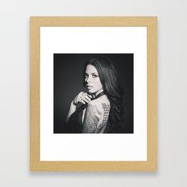 Black & Gray Framed Art Print