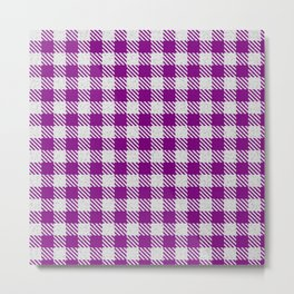 Purple Buffalo Plaid Metal Print