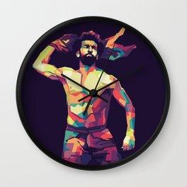 Mohamed Salah on WPAP Pop Art Portrait Wall Clock