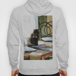 Cat on a Table With Light Coming Through a Window Hoody