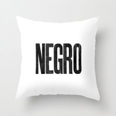 Voy de negro — Letterpress (White) Throw Pillow