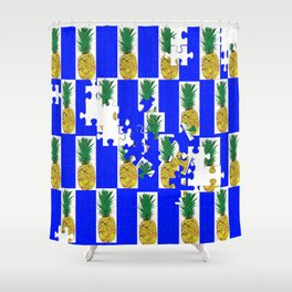 Pine Apple Jig Saw Puzzle Shower Curtain