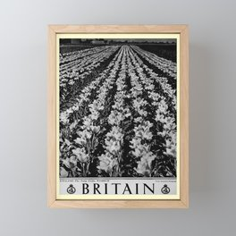 retro noir et blanc Britain Framed Mini Art Print