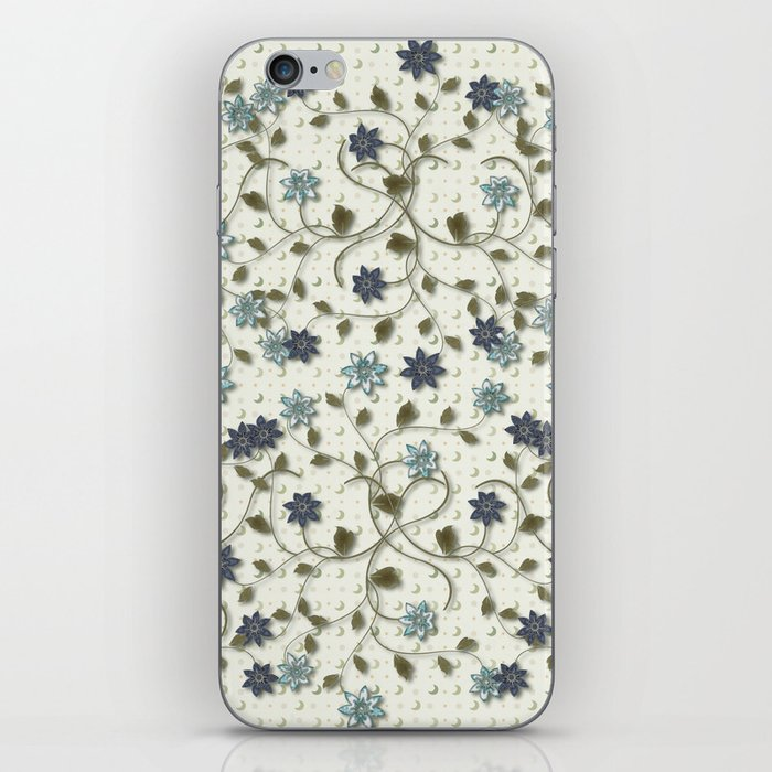 Blue Paper Flowers iPhone Skin