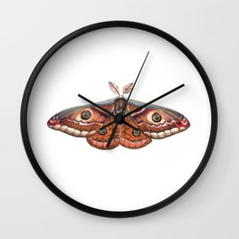 Small Emperor Moth (Saturnia pavonia) Wall Clock