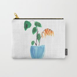 Potted Fern and Monstera Carry-All Pouch