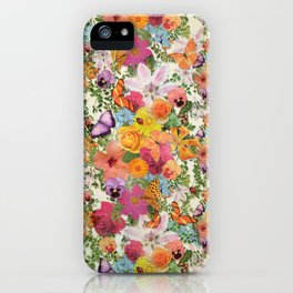 FLORAL // LIFE OF FLOWERS iPhone Case