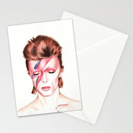David Bowie. Aladdin Sane. Album Cover. Watercolor painting. Stationery Cards