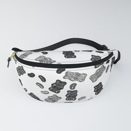 Black and White Gummy Bears Explosion Fanny Pack