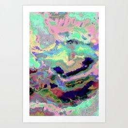 Iridescent caos Art Print