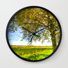 The Daffodil Summer Farm Art Wall Clock
