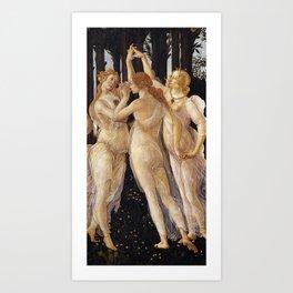 La Primavera - The Three Graces - Sandro Botticelli Art Print