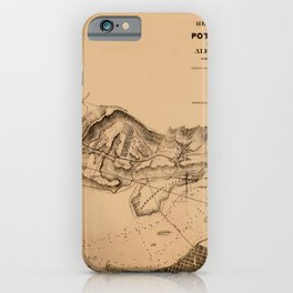 Map of Potomac River 1838 iPhone Case