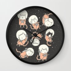Cat-Stronauts Wall Clock