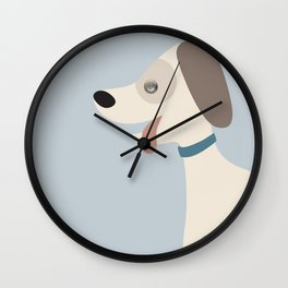 Little brown doggie Wall Clock