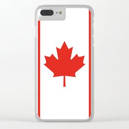 Red and White Canadian Flag Clear iPhone Case