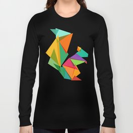 Fractal geometric Squirrel Long Sleeve T-shirt