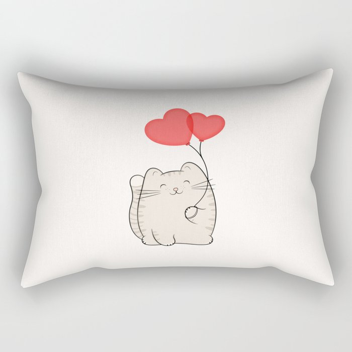 Eli, the love cat Rectangular Pillow