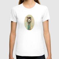 lama T-shirts featuring Lama by Anastasia Tayurskaya