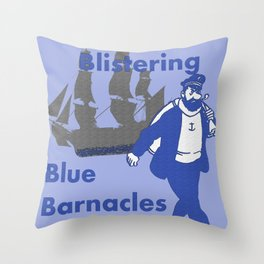 Blue Barnacles Throw Pillow