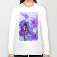 fairies Long Sleeve T-shirts featuring flower fairies by Charlie L'amour