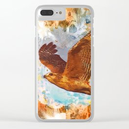 Shouldered Hawk Clear iPhone Case