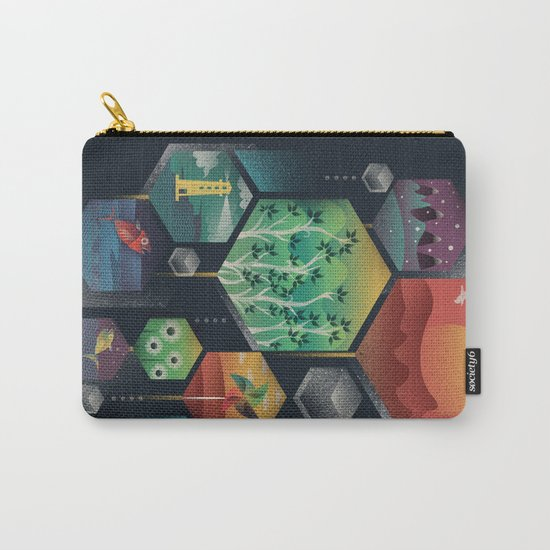 Geometrical Wonders Carry-All Pouch