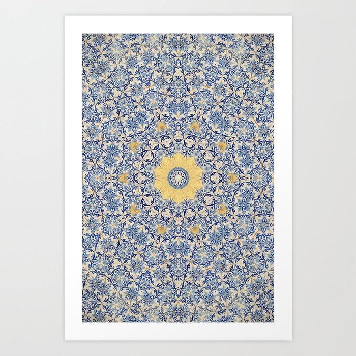 Deep States (Mandala) Art Print