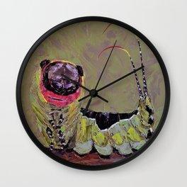 Smiling caterpillar Wall Clock