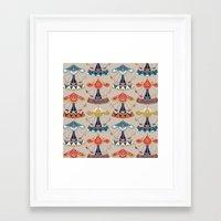 damask Framed Art Prints featuring carousel damask by Sharon Turner