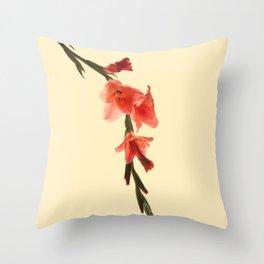 Serena Gladiolus Botanical Throw Pillow