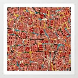 ESHE red Art Print