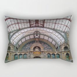 Antwerp Central Train Station Rectangular Pillow