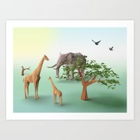 africa Art Prints featuring Africa by CharismArt