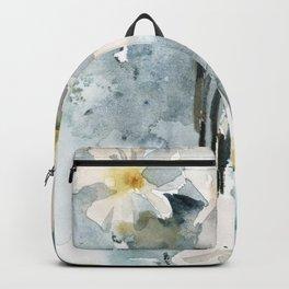 White daffodils Backpack