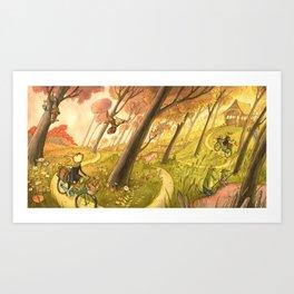 Bike Ride Through The Woods Art Print